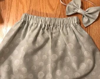 Swirls skirt set