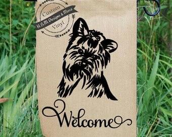 Attractive Yorkie Flags, Dog, Yorkshire Terrier, Yorkie Flag, Monogram Flag,Dog Burlap