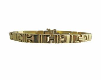 Vintage Italian 14K Gold Link Bracelet