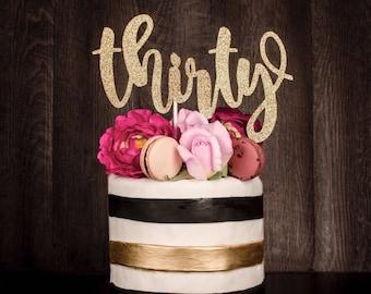Birthday Cake Topper Etsy - 30 year old birthday cake