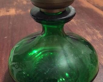 Stunning Deep Green Perfume Bottle