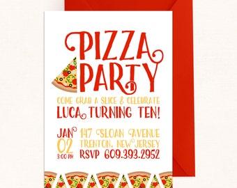Pizza Party Invite / Pizza Invitation / Pizza Party Invitation / Pizza Invite / Pizza Birthday Invitation / Digital / Italian Party