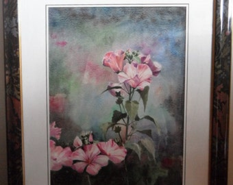 WATERCOLOR with authenticity certificate