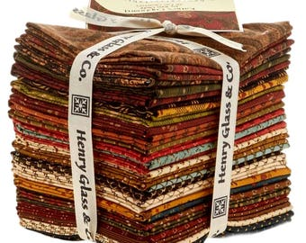 "Kim Diehl- ""Katie's Cupboard""-Fat Quarter Bundle, for Henry Glass -28 different fat quarters, vintage fabric,  stripe fabric."