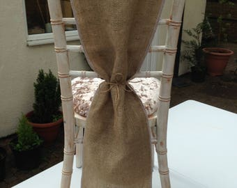 Hessian/Burlap Chair Sash/Drapes Pack of 50