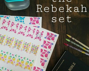 Printable Prayer Bible tabs. The Rebekah Set. Bible journaling tabs.