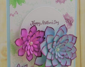 Mother's Day Handmade Cards, Mother's Day Cards, Handmade Flower Cards, Unique Cards for Mom, Stampin Up Mothers Day, Flowers Greeting Cards