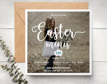 Easter Mini Session Template, / Photography Marketing Board - Photoshop Template for photographers - INSTANT DOWNLOAD ETMINI003