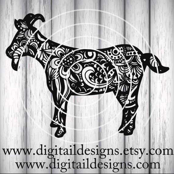 Download Zentangle Goat SVG dxf png eps ai fcm Cricut