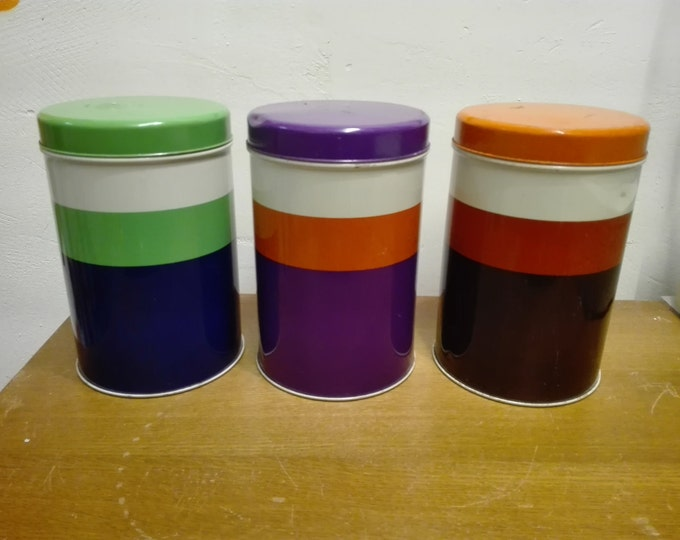 Set of 3 Impala canisters / tins