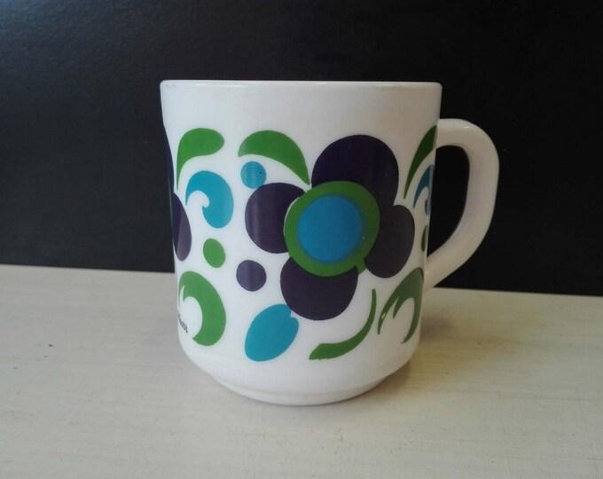 Arcopal knorr mug, Blue and green