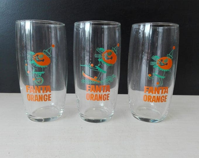 Fruit Glas set of three, Fanta Orange