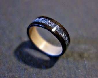 Handmade Wooden Ring with Sodalite Inlay