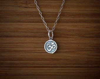 STERLING SILVER Tiny Ohm Charm or Earrings- Chain Optional