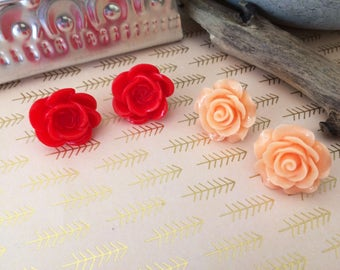 The Rose, Large Stud Earrings