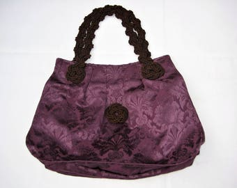 Purple damask bag