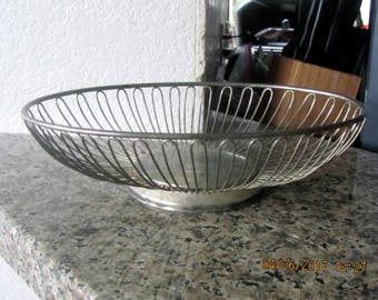 Silver serving bowl or decorative vintage piece oval retro
