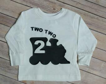 Train birthday shirt, second birthday train shirt, two two shirt, toddler train birthday shirt, choo choo shirt, toddler boy train shirt