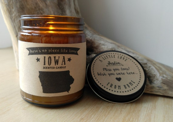 iowa scented candle missing home homesick gift moving gift new