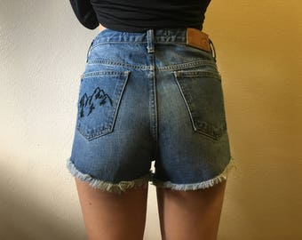 CUSTOMIZED Embroidered Jean Shorts