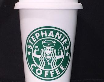 Nurses Personalized Starbucks Cup(Nurse, Male Nurse, BSN, RN, Nursing Students, Nursing Instructors, Nurse appreciation, Nursing Graduation)