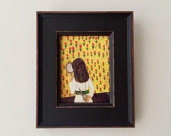 Framed Miniprint: The Hair.