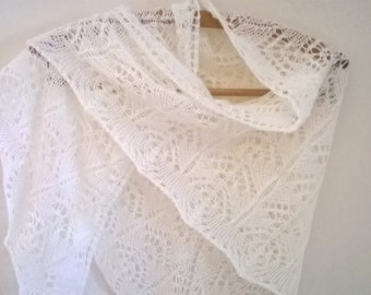 wedding shawl/ wedding wrap/ ivory wedding shawl / cream shawl/ lace shawl/ lace wrap