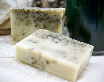 Rosemary Peppermint Bath Soap, Herbal Bar Soap, Handcrafted Bar Soap, Exfoliating Soap, Essential Oil Bar Soap, All Natural Soap