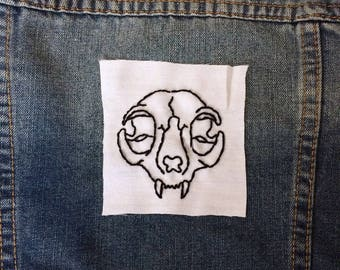 Cat Skull patch