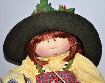 "Little Souls Doll, Little Souls Original, Little Souls Petra 24"", Gretchen Wilson, Cloth Dolls, Dolly Mama, Ooak Doll"