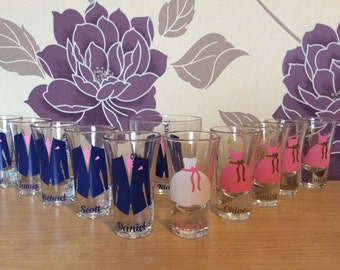Personalised wedding shot glass (price per shot glass)