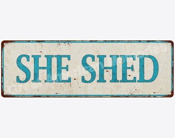SHE SAID Distressed Look Metal Sign 6x18 6180621