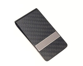 designer wallet with money clip cjai  Designer Unique Black Carbon Fiber Money Clip Card Holder Fashion Stainless  Steel Jewelry Elegant Holiday Gift