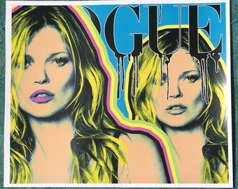 KATE MOSS graphic art print