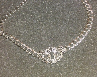 Revamped Silver Keyhole on Silver Chain