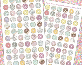 Donut Holes PAGE REINFORCEMENTS Planner Layout Stickers