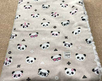 Panda Panda baby blanket by Calico Clouds