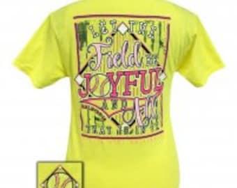 Girlie Girl Joyfull softball tee shirt NEW