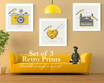 Retro Wall Art retro prints | etsy