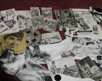 44 Piece Ephemera Pack Black and White Images Illustrations Ads Eclectic Mix Most Vintage Collage Mixed Media Altered Art Journals MORE