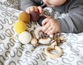Teething toy Baby Teether Baby toys Infant toy Baby teethers Gender neutral teething toy Wooden baby toys Wooden newborn toys for baby