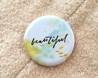 Beautiful: Pocket Mirror 57mm/2.3 inch
