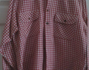 Rare Vintage Jeans Wear by Cicerone & Co Red Check Western Shirt