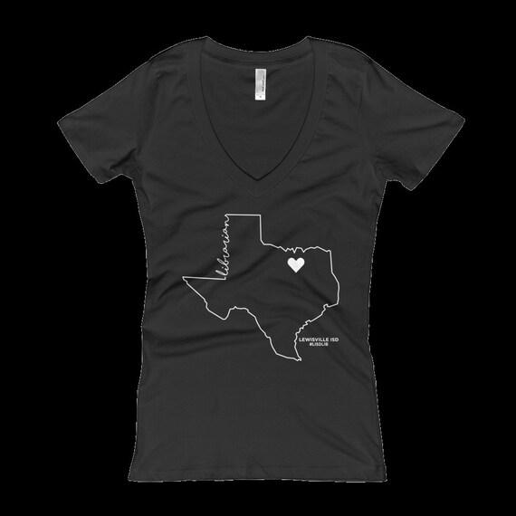 Jody---Lewisville Librarian Texas Librarian VNECK Triblend T-shirt | #lisdlib | Custom Listing
