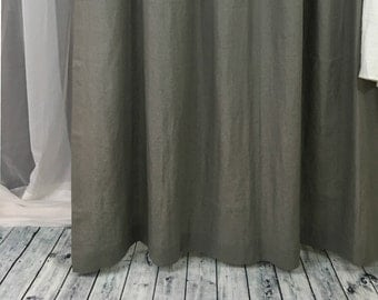 grey linen shower curtain. Grey Linen Shower Curtains  Gray Mildew Free 72x72 72x85 Chambray Curtain