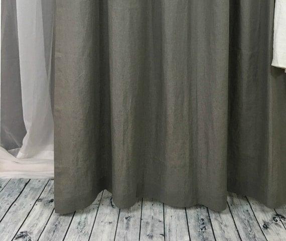 Grey Linen Shower Curtains Gray Linen Mildew Free 72x72