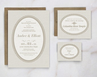 Regal Wedding Invitation | Custom Digital Order