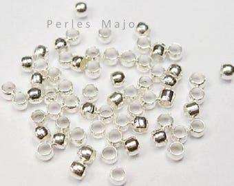 Lot de perles à écraser couleur argentée vendu par 4gr environ 200 unités