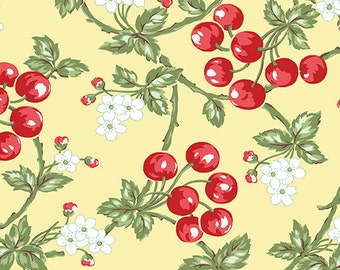 Simply Chic - Cherries on Butter - Sold by the Half Yard