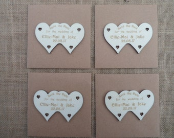 Double Heart Style Save the Date Fridge Magnets - Fun Save The Date Tags